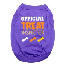 Official Treat Inspector Halloween Dog Shirt - Purple