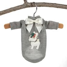 Hello Doggie Baby Deer Dog Sweater - Gray