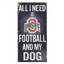 Ohio State Buckeyes Football and My Dog Wood Sign