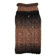 fabdog® Ombre Rollneck Dog Sweater - Brown