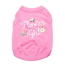 Flower Girl Dog Shirt - Light Pink