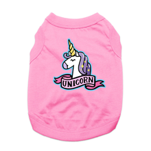 Unicorn Dog Shirt - Light Pink