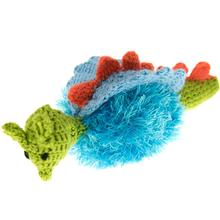 OoMaLoo Handmade Dragon Dog Toy - Blue