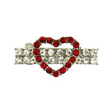 Open Heart Barrette by FouFou Dog - Red
