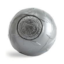 Planet Dog Orbee-Tuff Diamond Plate Ball Dog Toy - Silver