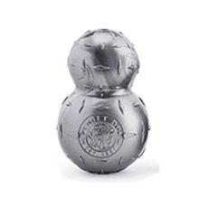 Orbee-Tuff Diamond Plate Double Tuff Dog Toy by Planet Dog - Silver