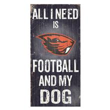 Oregon State Beavers Football and My Dog Wood Sign