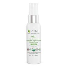 Pure and Natural Pet Organic Dental Solutions Plaque & Tartar Control Breath Spray