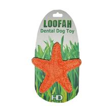 Organic Loofah Dental Dog Toy - Starfish