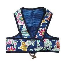 Original Cloak & Dawggie Step-N-Go Mesh Lined Dog Harness - Navy Floral