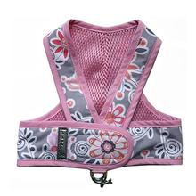 Original Cloak & Dawggie Step-N-Go Mesh Lined Dog Harness - Pink Floral