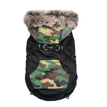 Orson Fleece Dog Vest By Puppia - Black and Camo