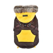 Orson Fleece Dog Vest By Puppia - Brown