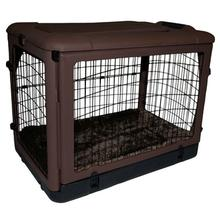 The Other Door Steel Dog Crate - Chocolate