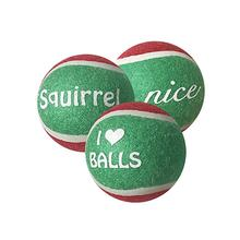 Outward Hound Holiday Tennis Ballz Dog Toys - 3 Pack