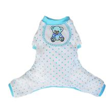 Teddy Bear Dog Pajamas - Blue