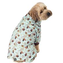 Owl, Squirrel, Hedgehog Dog Pajamas - Blue