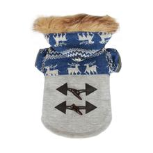 Ox Horn Button Dog Coat by Dobaz - Blue
