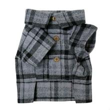 Purple Mountains Flannel Dog Shirt by Dog Threads - Purple Plaid