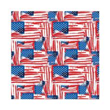 Painted American Flag Dog Bandana