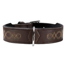 Palermo Leather Dog Collar by HUNTER - Dark Brown