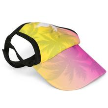 Palm Tree Pink Dog Visor by Playa Pup