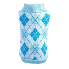 Parisian Pet Argyle Dog Sweater in Blue