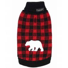 Parisian Pet Buffalo Checkered Dog Sweater - Polar Bear