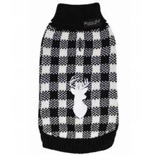 Parisian Pet Buffalo Checkered Dog Sweater - Deer