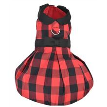 Parisian Pet Buffalo Checkered Taffeta Dog Dress - Red
