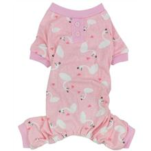 Parisian Pet Pink Swan Dog Pajamas
