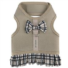 Parisian Pet Plaid Harness Dog Dress - Khaki