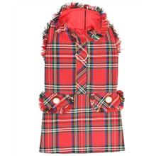 Parisian Pet Red Tartan Fringe Dog Dress