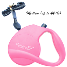 Parisian Pet Retractable Dog Leash - Pink