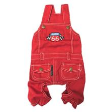 Parisian Pet Route 66 Dog Jumpsuit - Red