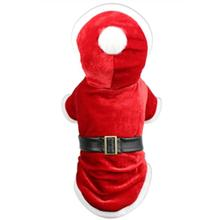 Parisian Pet Santa Claus Winter Dog Hoodie