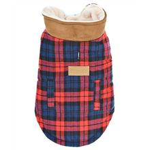 Parisian Pet Scottish Plaid Dog Coat - Red