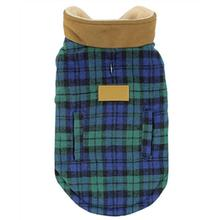 Parisian Pet Scottish Plaid Dog Coat - Green