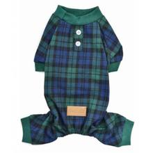 Parisian Pet Scottish Plaid Dog Pajamas - Green