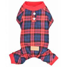 Parisian Pet Scottish Plaid Dog Pajamas - Red