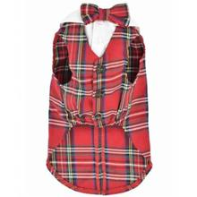 Parisian Pet Red Tartan Dog Tuxedo