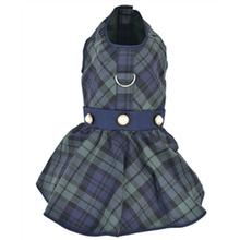 Parisian Pet Scottish Plaid Taffeta Dog Dress - Green