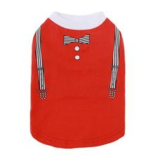 Dobaz Suspenders Dog Shirt - Red
