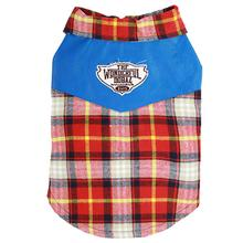 Dobaz Plaid Camp Dog Shirt - Red