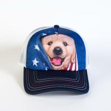 Patriotic Golden Pup Trucker Hat by The Mountain