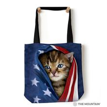 Patriotic Kitten Tote Bag by The Mountain
