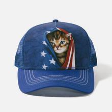 Patriotic Kitten Trucker Hat by The Mountain