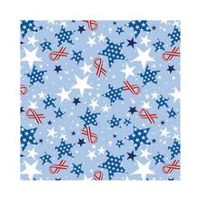 Patriotic Ribbons and Stars Dog Bandana