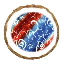 Patriotic Stars Dog Treat Cookie