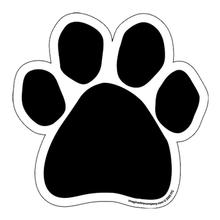 Paw Print Car Window Decal - Black Paw